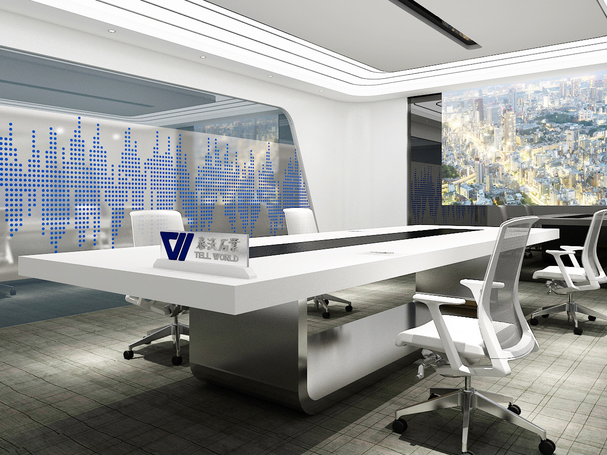 U Shape Stainless Conference Table