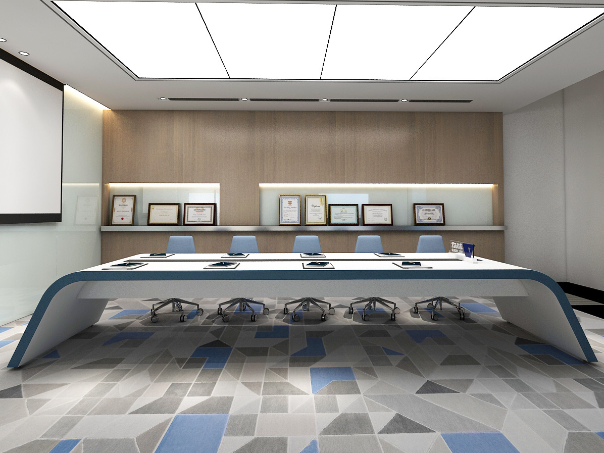Trapezoidal conference table