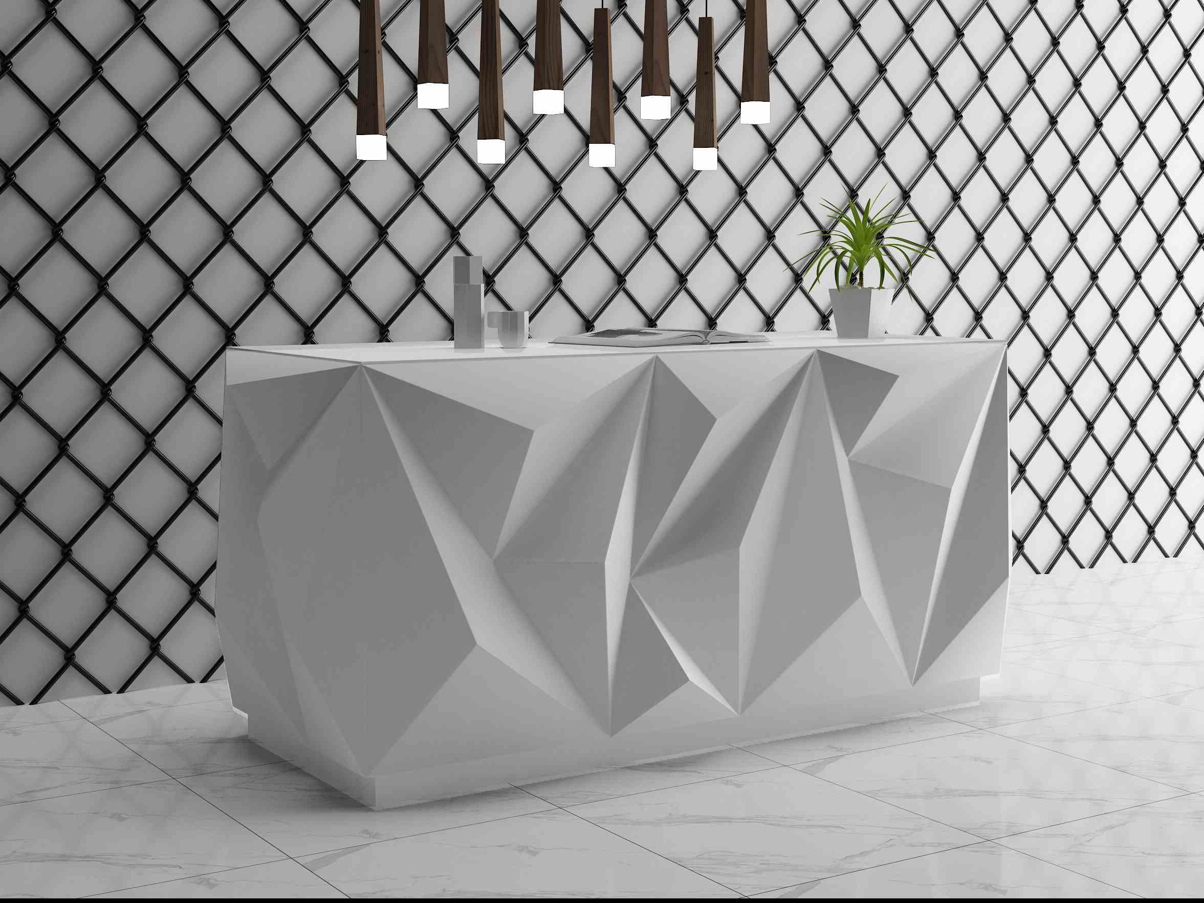 Diamond Design Small Counter