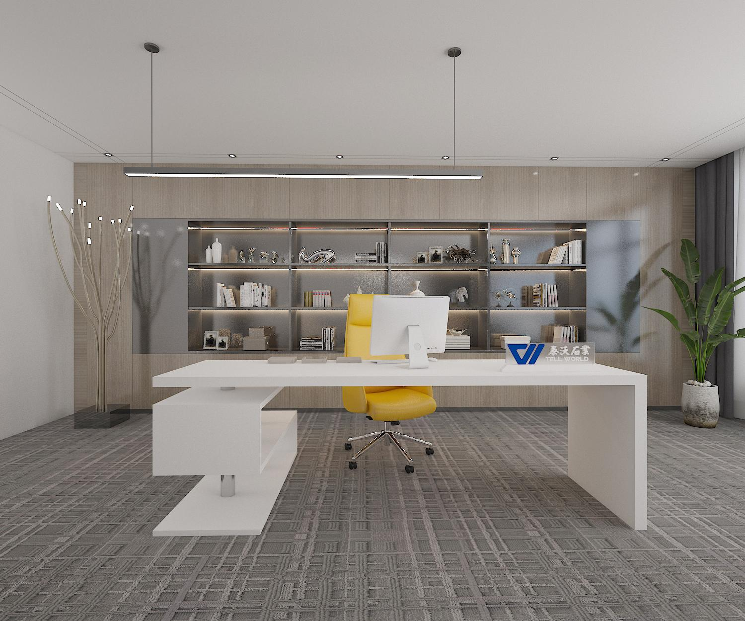 L-shaped Office Table