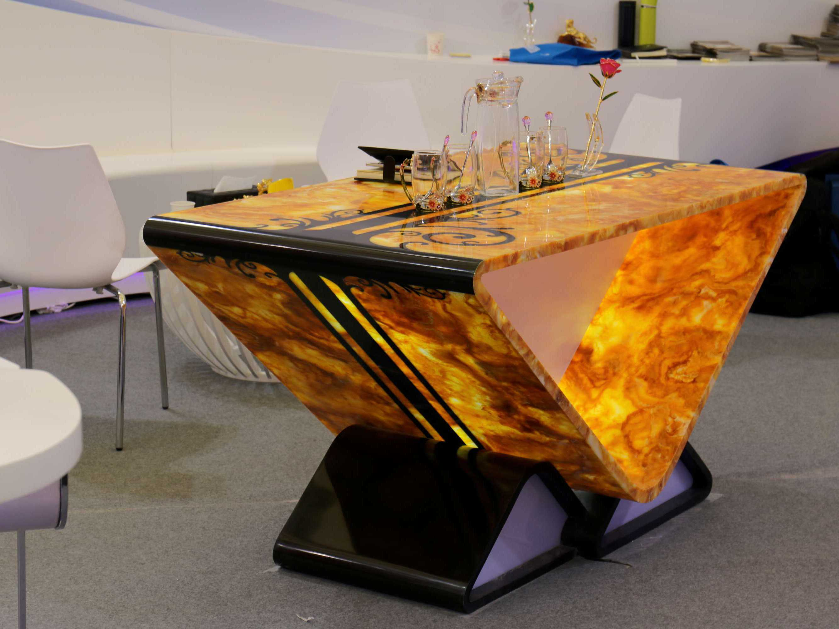Golden Amber  Coffee Table
