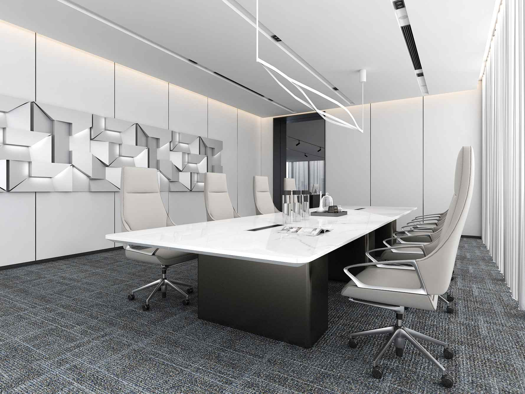 Three-legged Conference Table