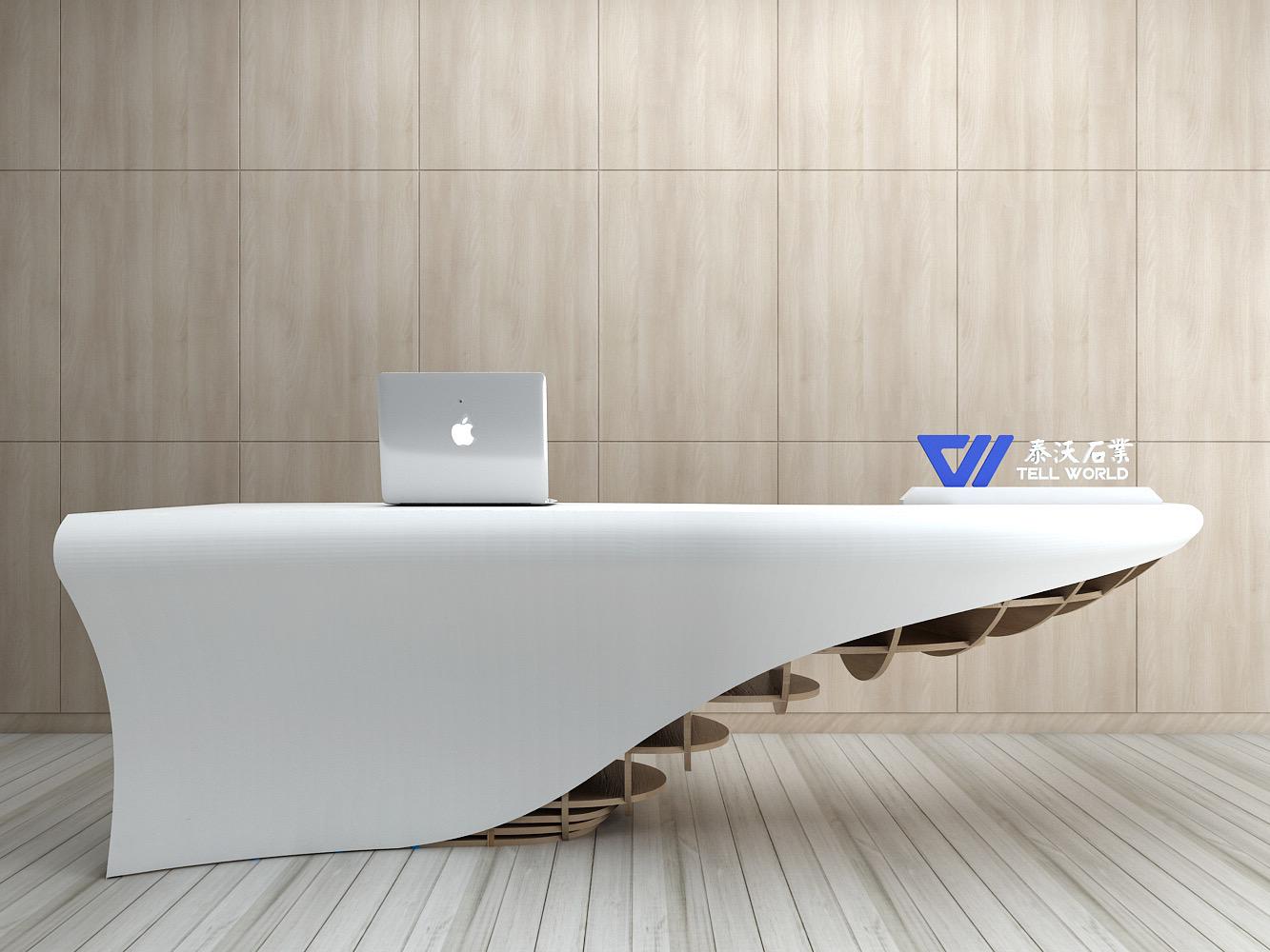 Wooden Base Reception Desk
