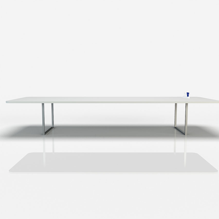 Stainless Steel Feet Conference Table