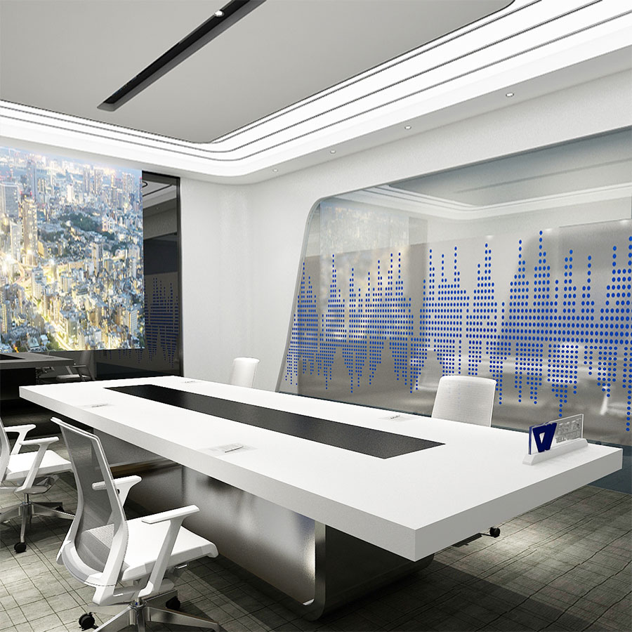 Contrast Color Conference Table