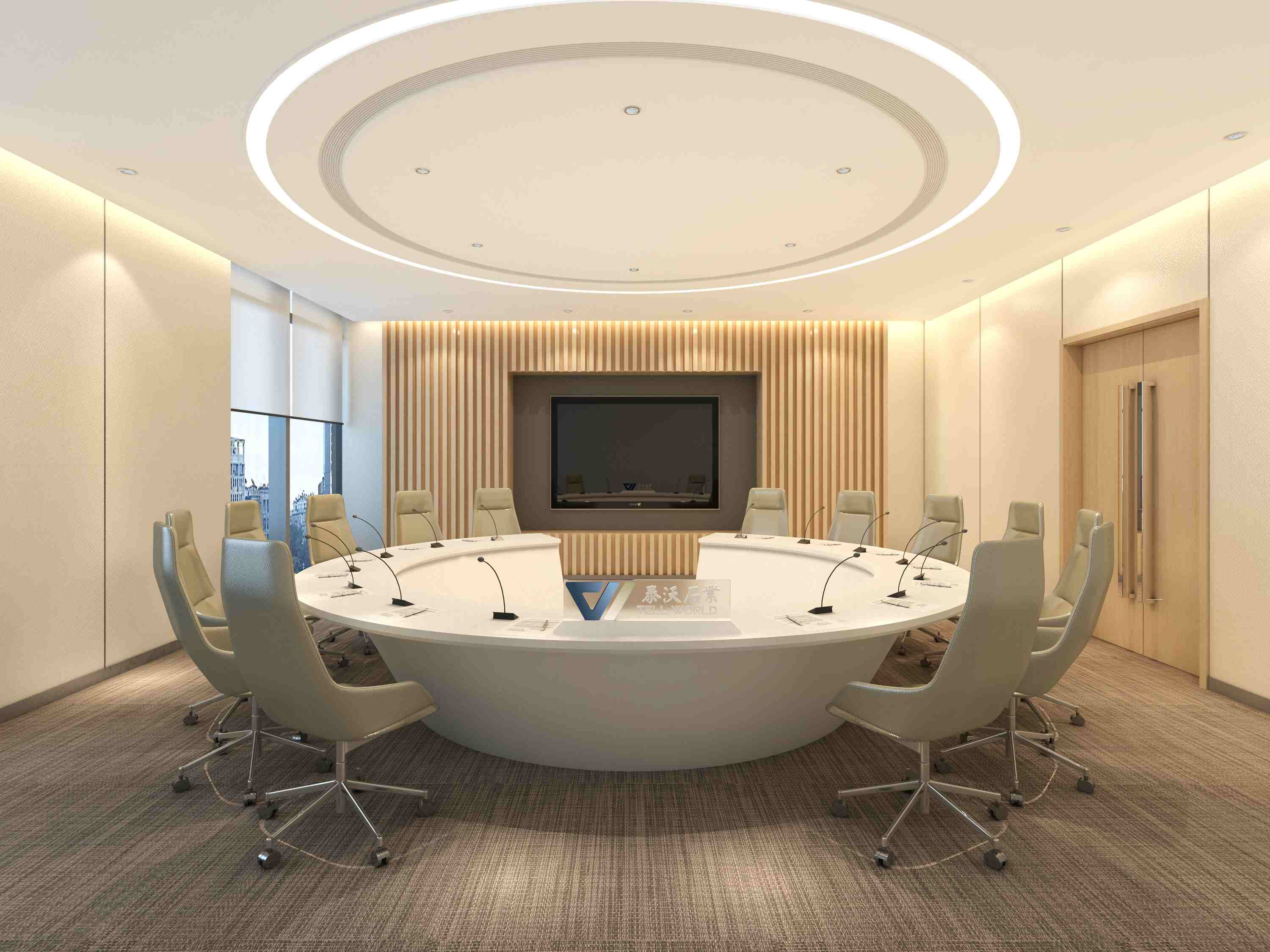 Semicircular Conference Table