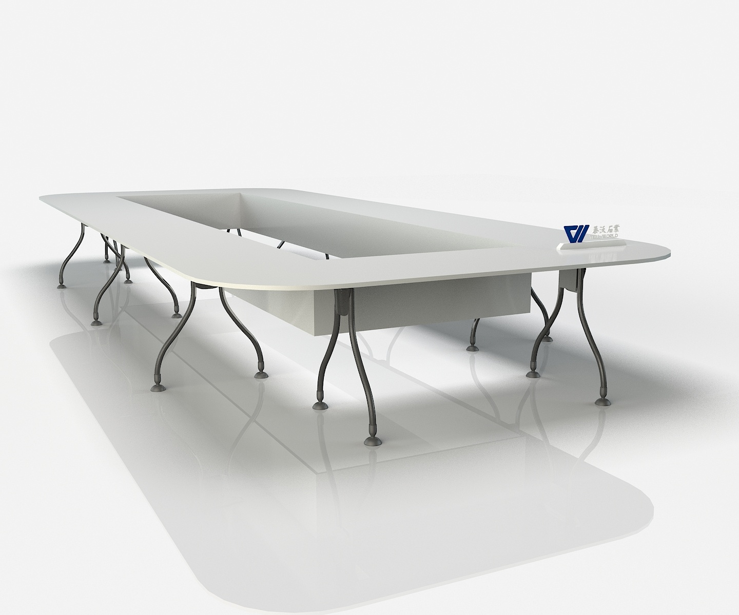 Metal Feet Conference Table